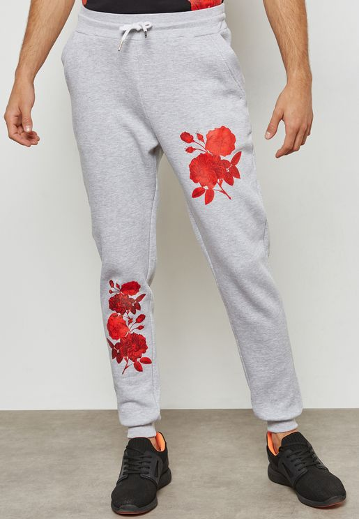 Rose Printed Sweatpants