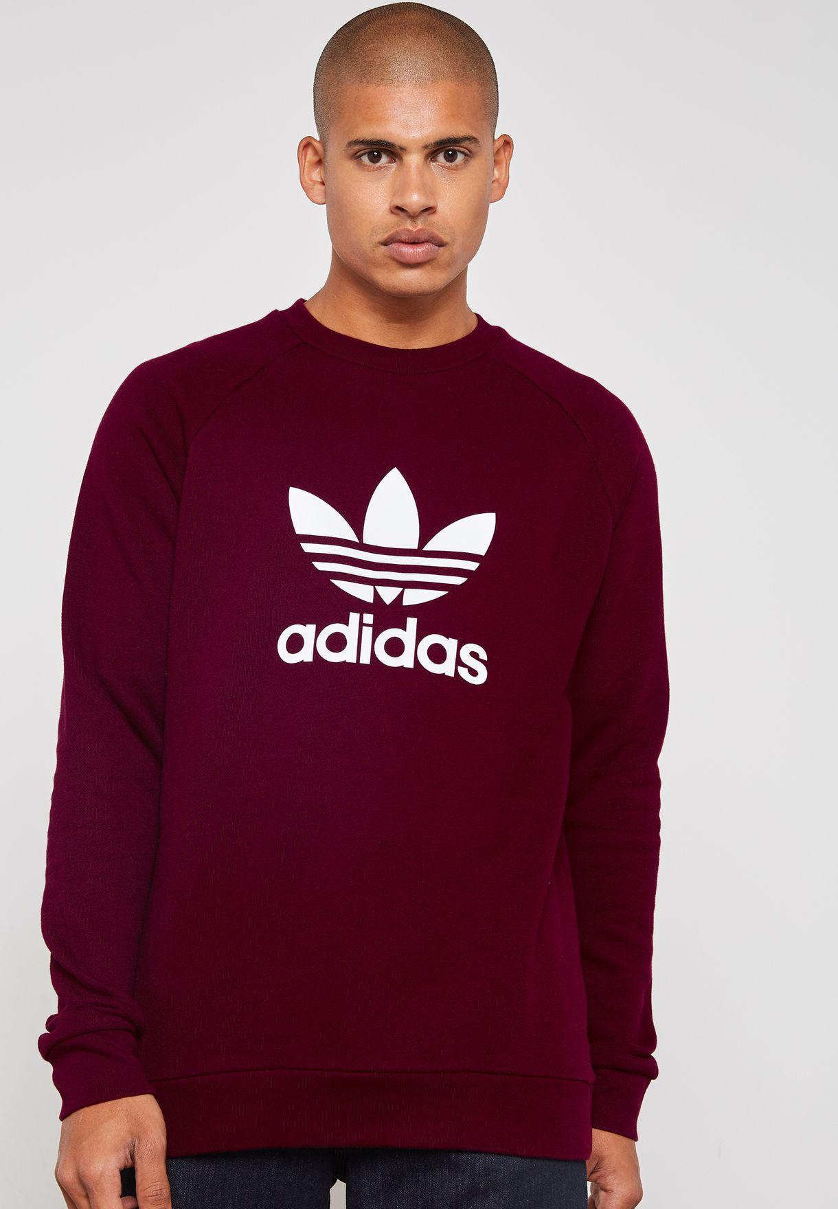 8bf465babc Shop adidas Originals red Trefoil Sweatshirt DM7835 for Men in Saudi ...