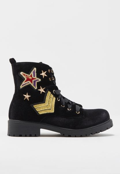 Patches Embroidery Boots