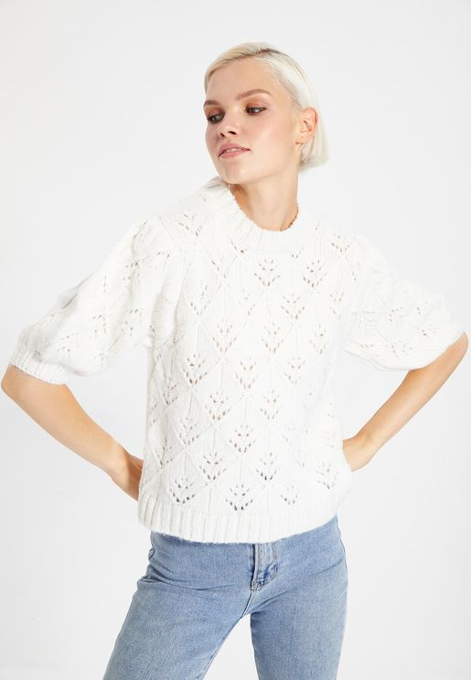 Crew Neck Knitted Top