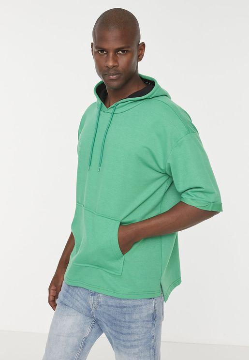 Essential Oversize Short Sleeve Hoodie