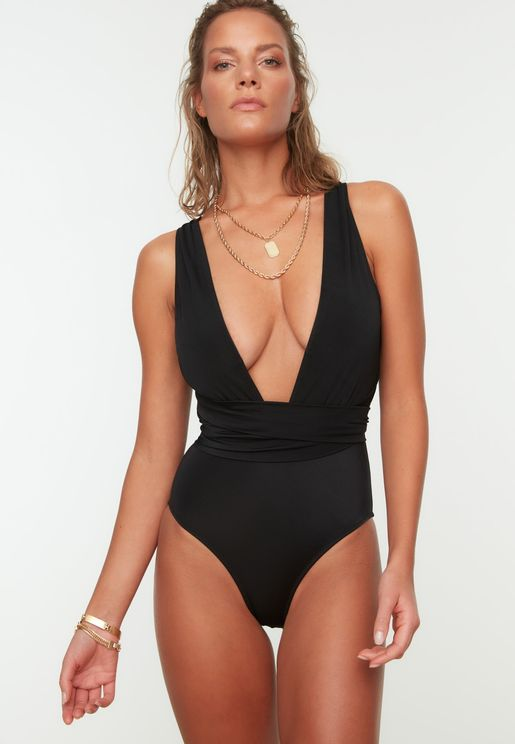 High Leg Plunge Swimsuit