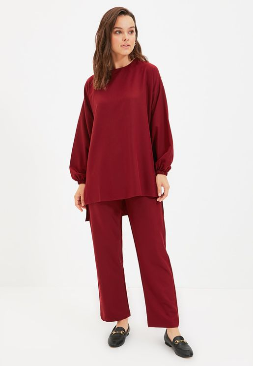 Knitted Top & Pants Set