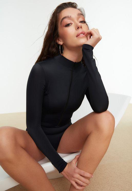 Zip Through Swimsuit