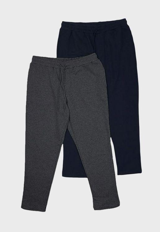 2 Pack Assorted Drawstring Sweatpants
