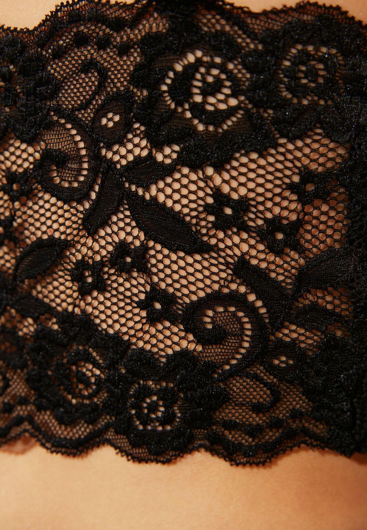 Lace Back Crop Top