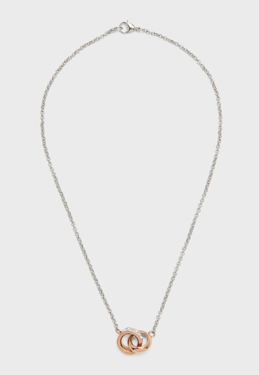Small Embracing Ring Pendant Necklace