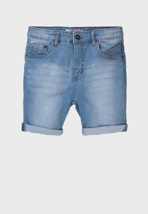 Infant Basic Denim Shorts