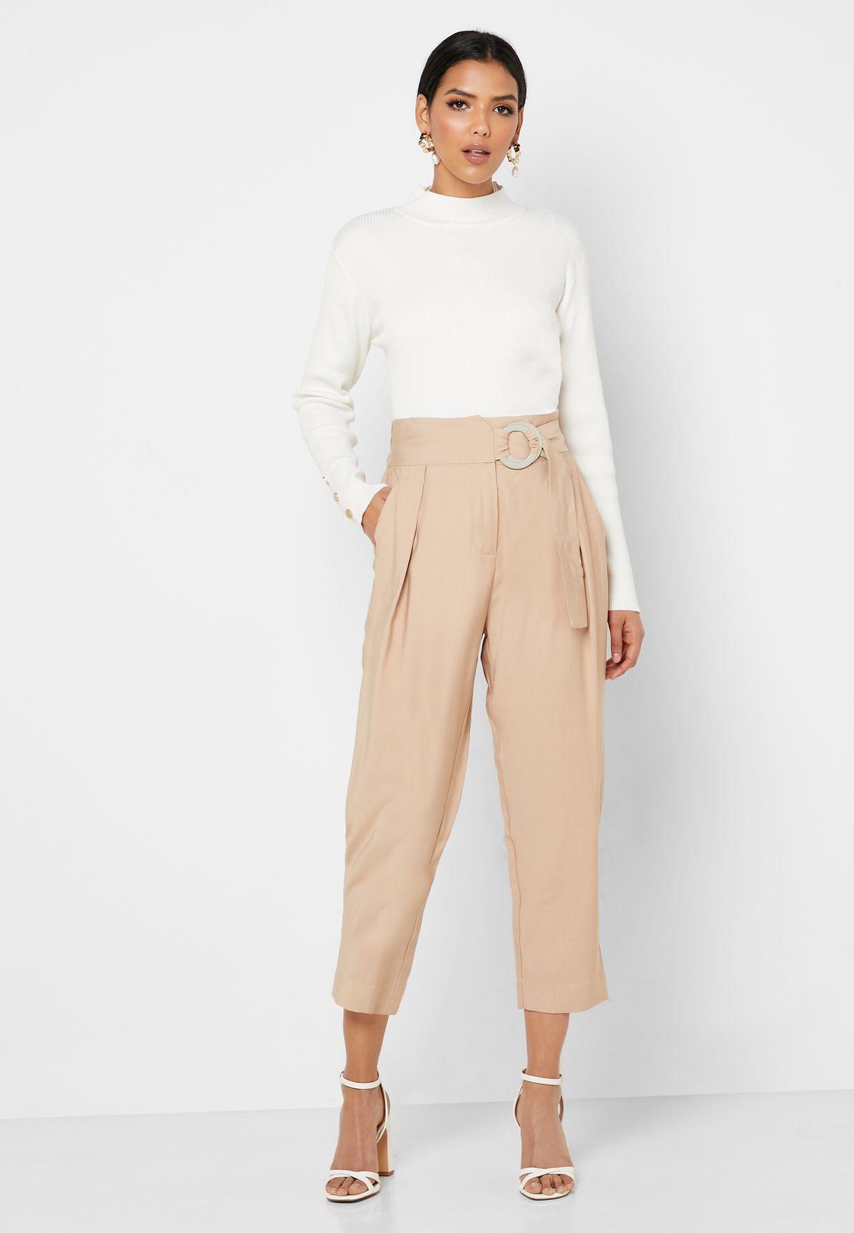 Buckle Detail Pants
