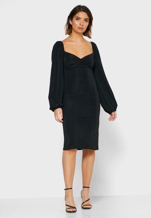 Detailed Mini Dress