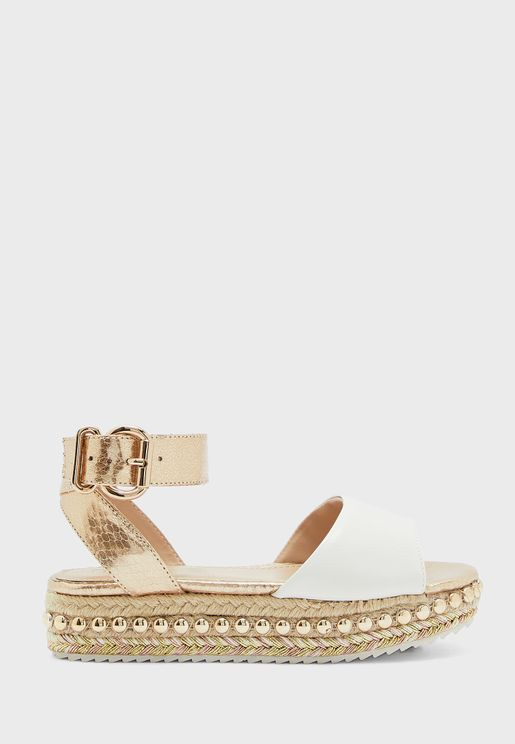Kids Flatform Wedge Espadrille