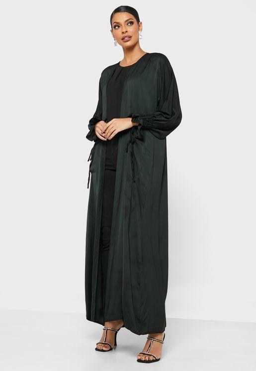 Balloon Sleeves Pleated Abaya