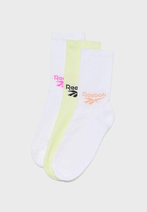 Classics 3 Pack Foundation Crew Socks