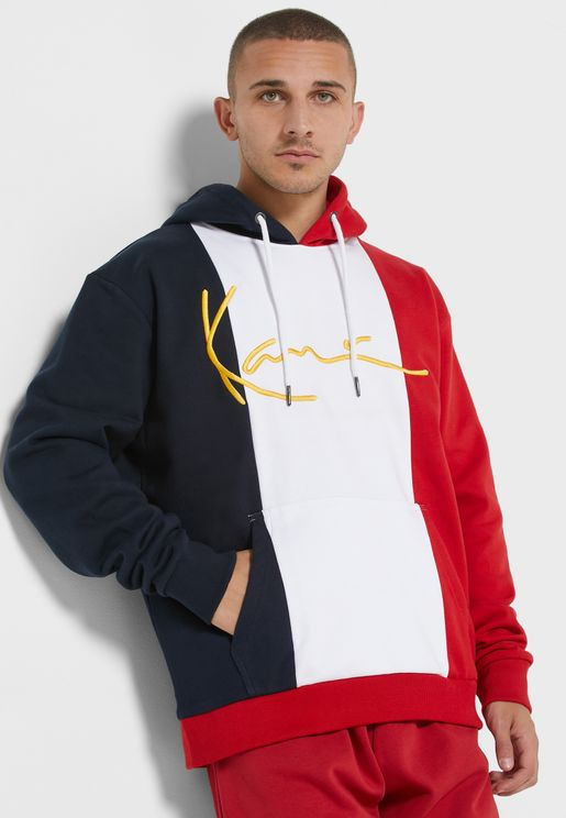 Signature Colour Block Hoodie