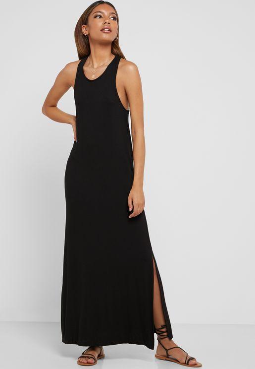 Side Slit Sleeveless Dress