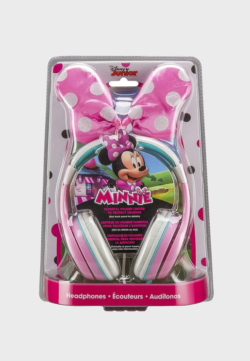 Disney Minnie Over Ear Headphones With Bow