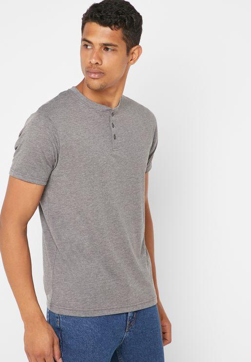 Grandad Collar T-Shirt