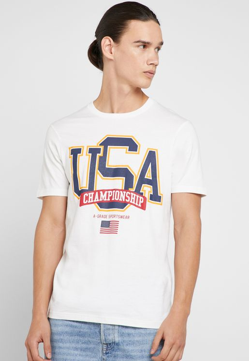 USA Champs Crew Neck T-Shirt