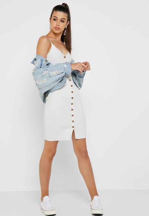Button Down Cami Dress