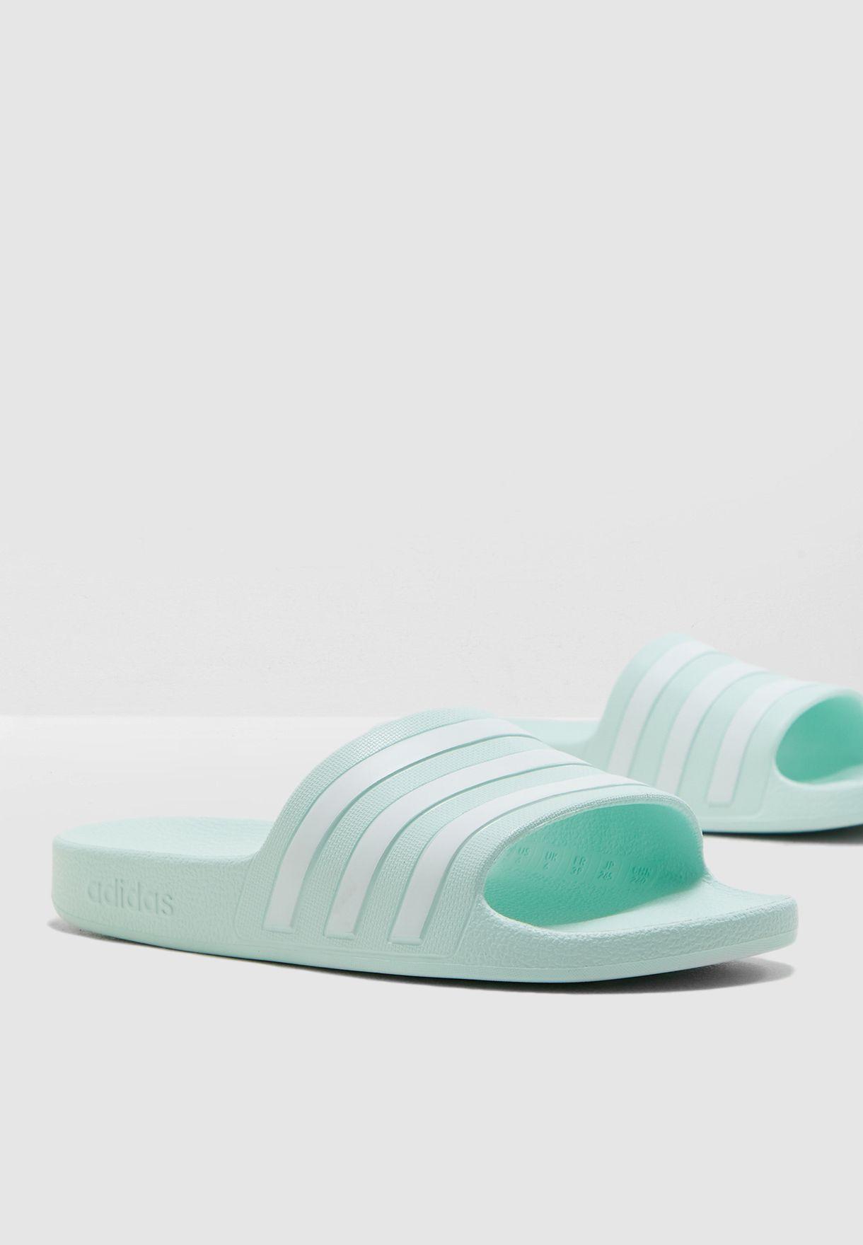 97c566bae1ca Shop adidas green Adilette Aqua Slides F35535 for Women in UAE ...