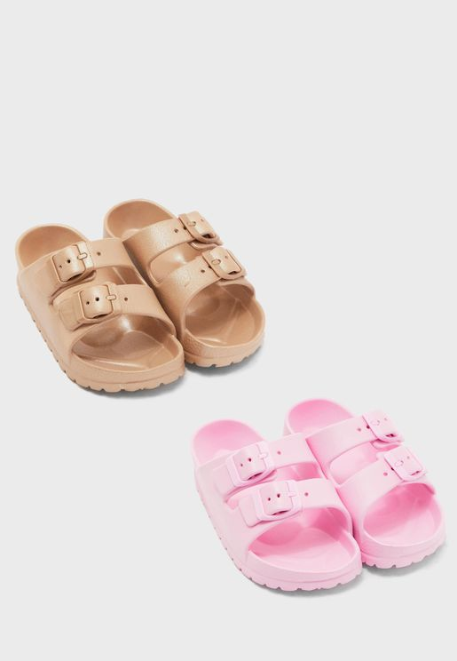 Kids 2 Pack Flip Flops