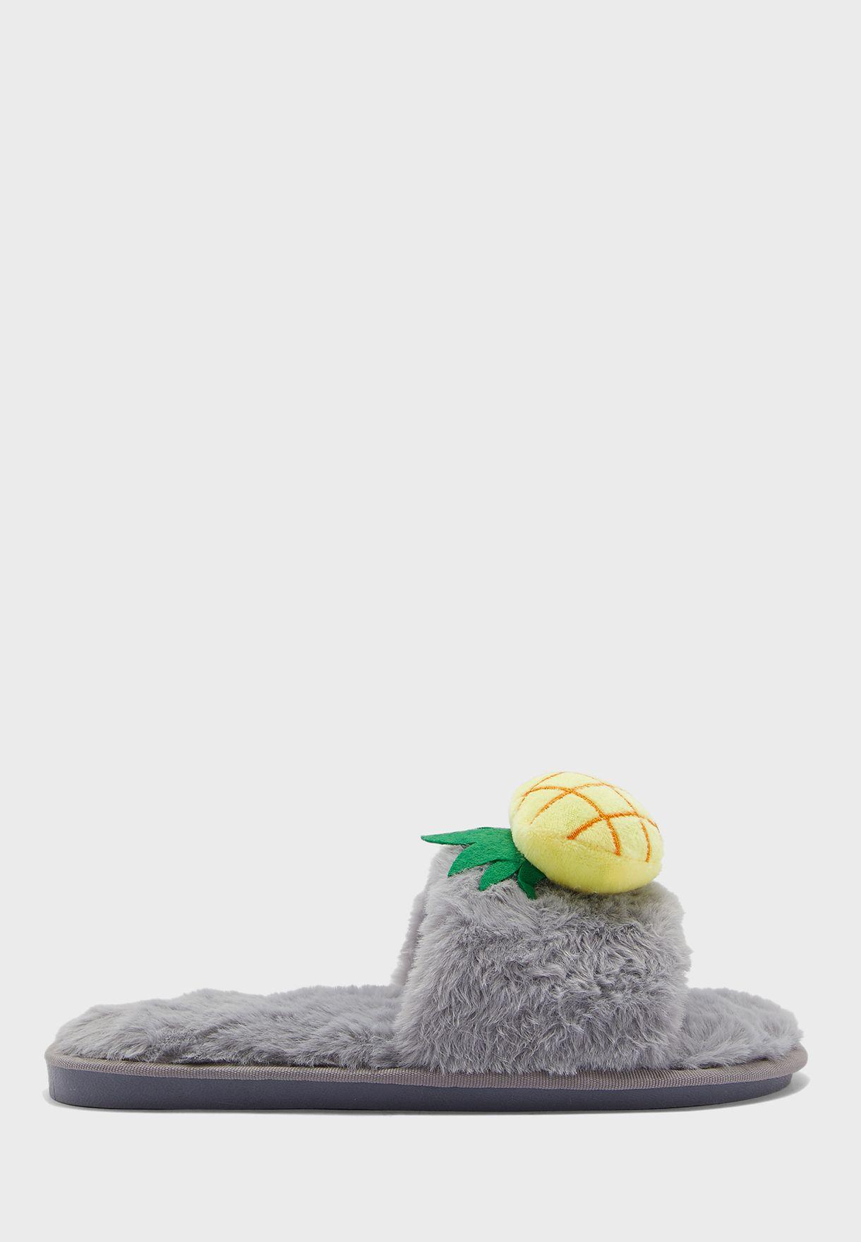 Pineapple Open Toe Bedroom Slippers