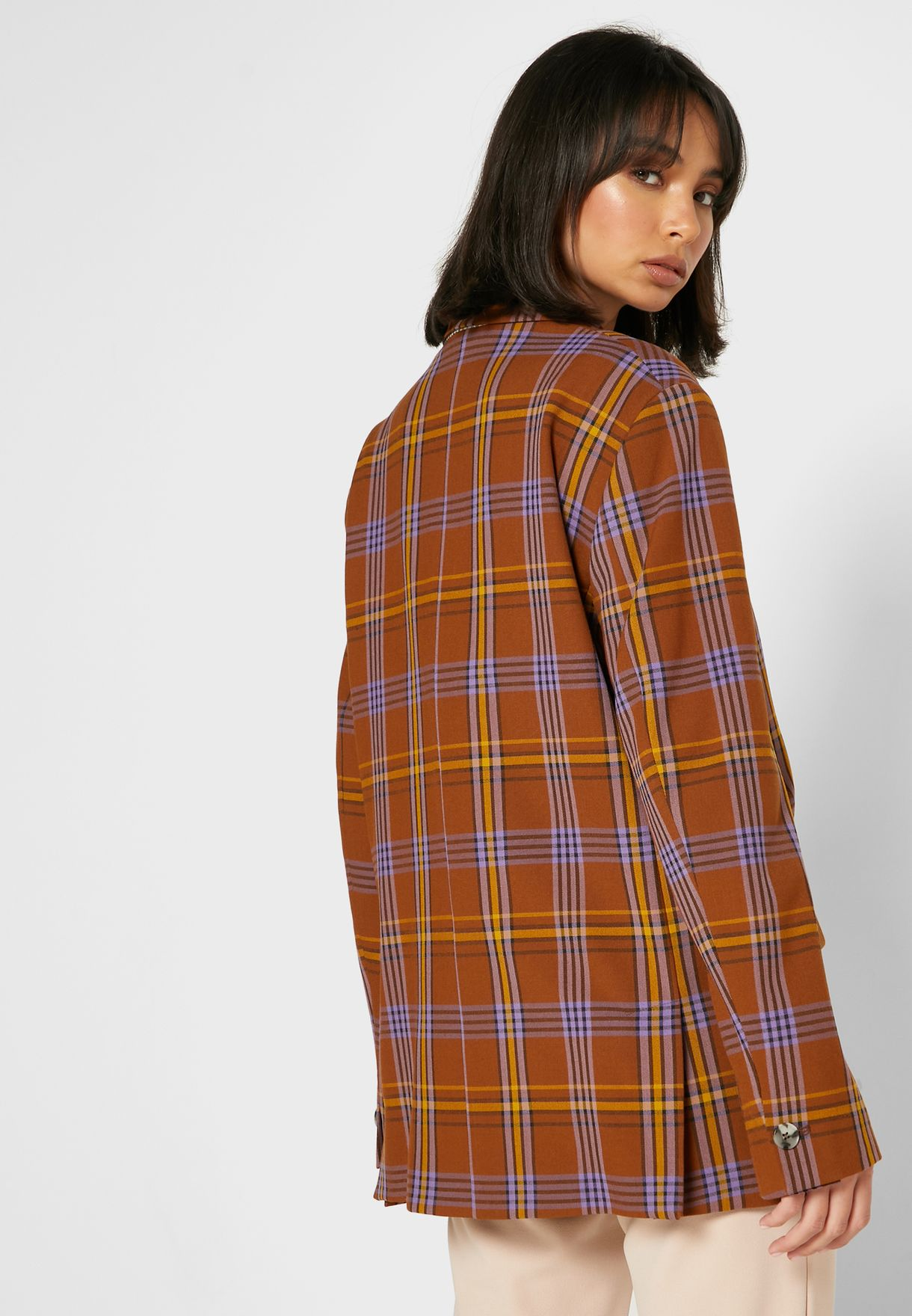 Immy Checked Double Breasted Blazer