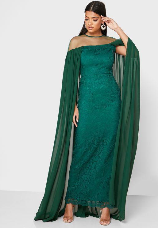 فستان شبك بنمط كاب