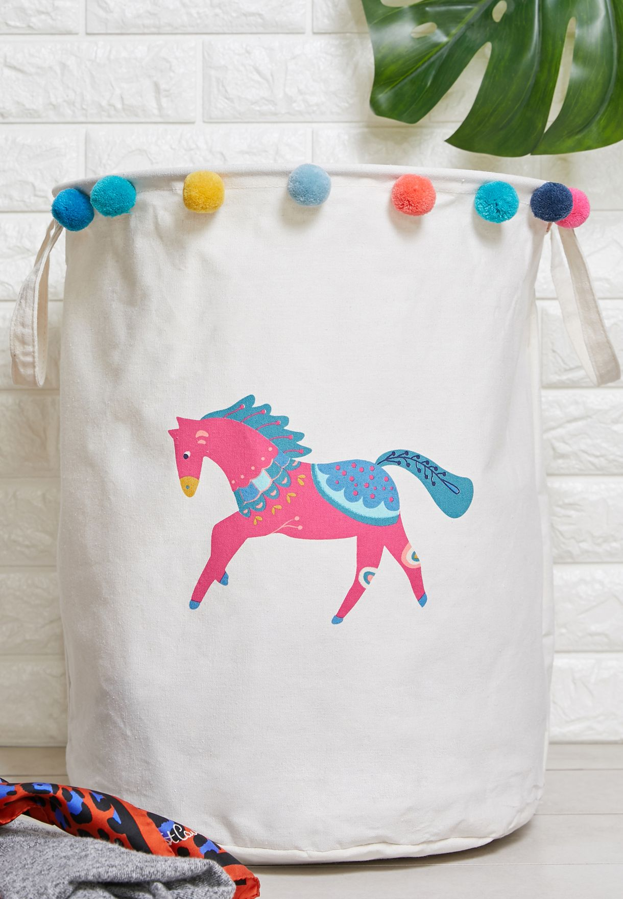 Mimo Eclectic Horse Laundry Bag