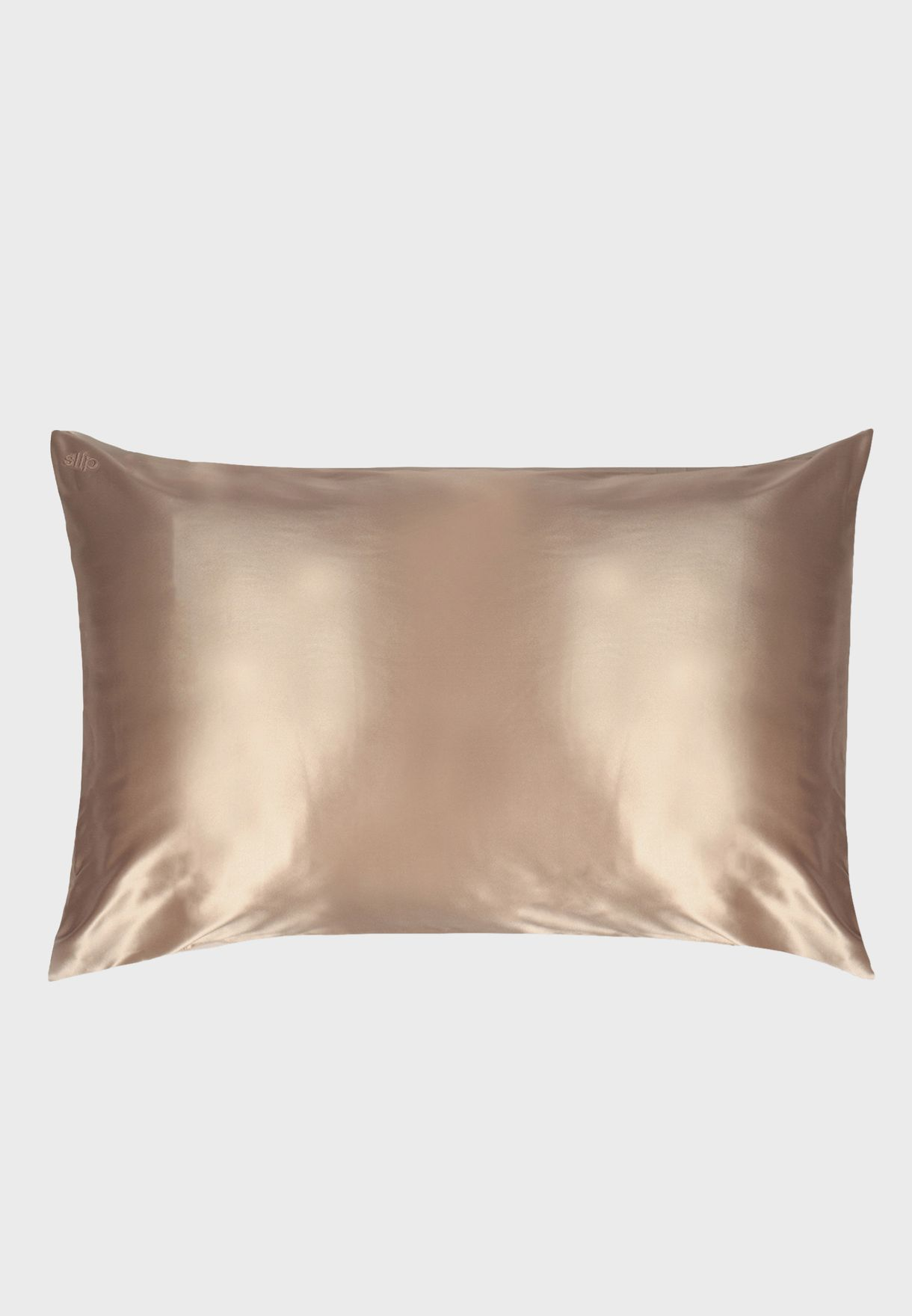 Queen Size Silk Pillow Case - Caramel