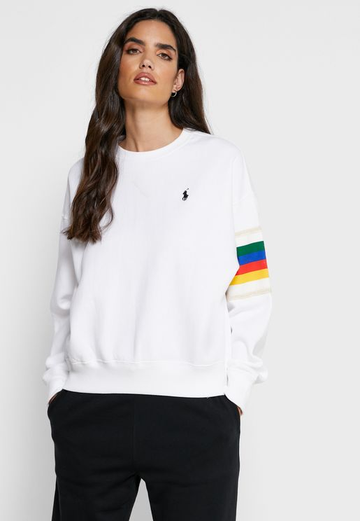 Contrast Trim Logo Sweatshirt