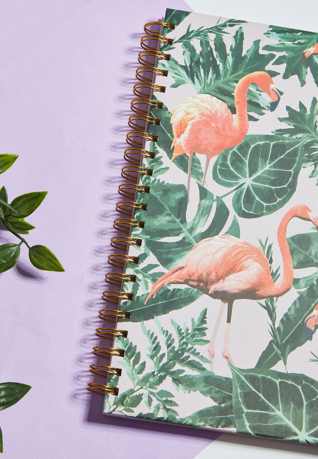 A4 Flamingo Print Notebook