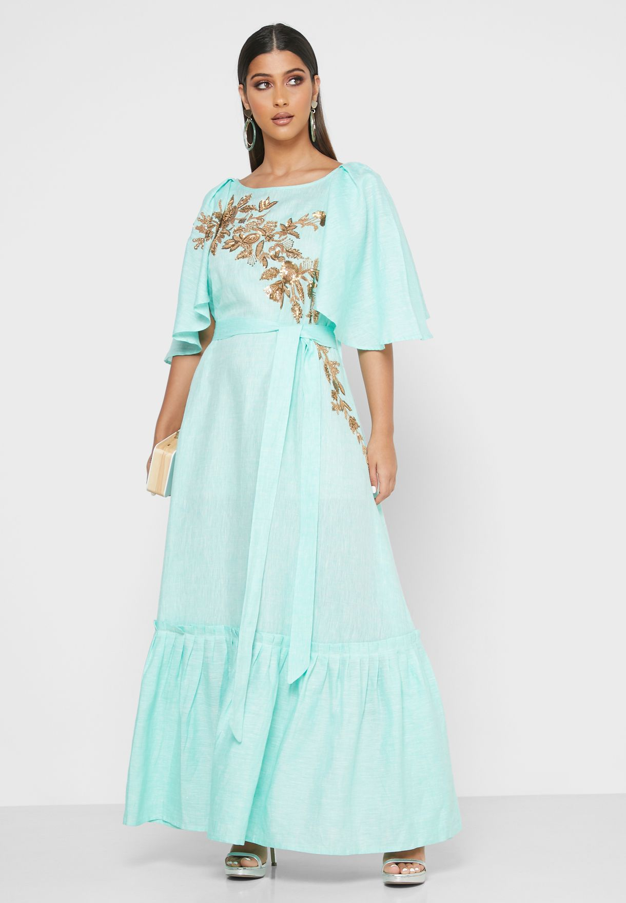 فستان بخرز وترتر