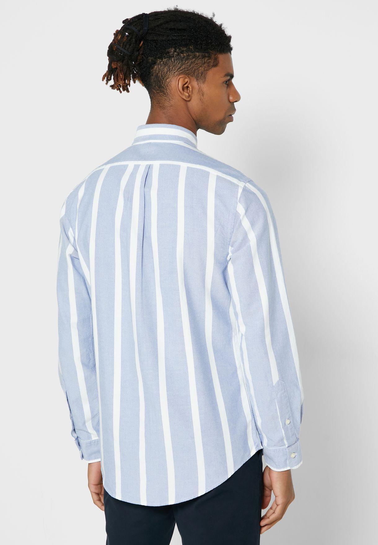 قميص مخطط باكمام طويلة