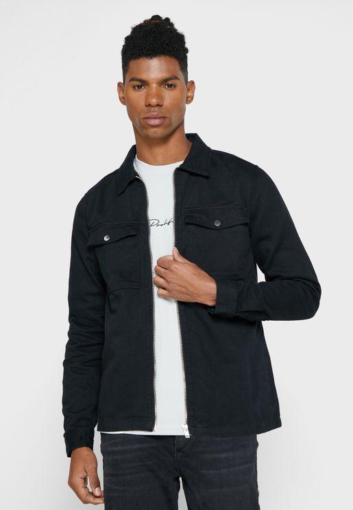 Zip Front Regular Fit Jacket