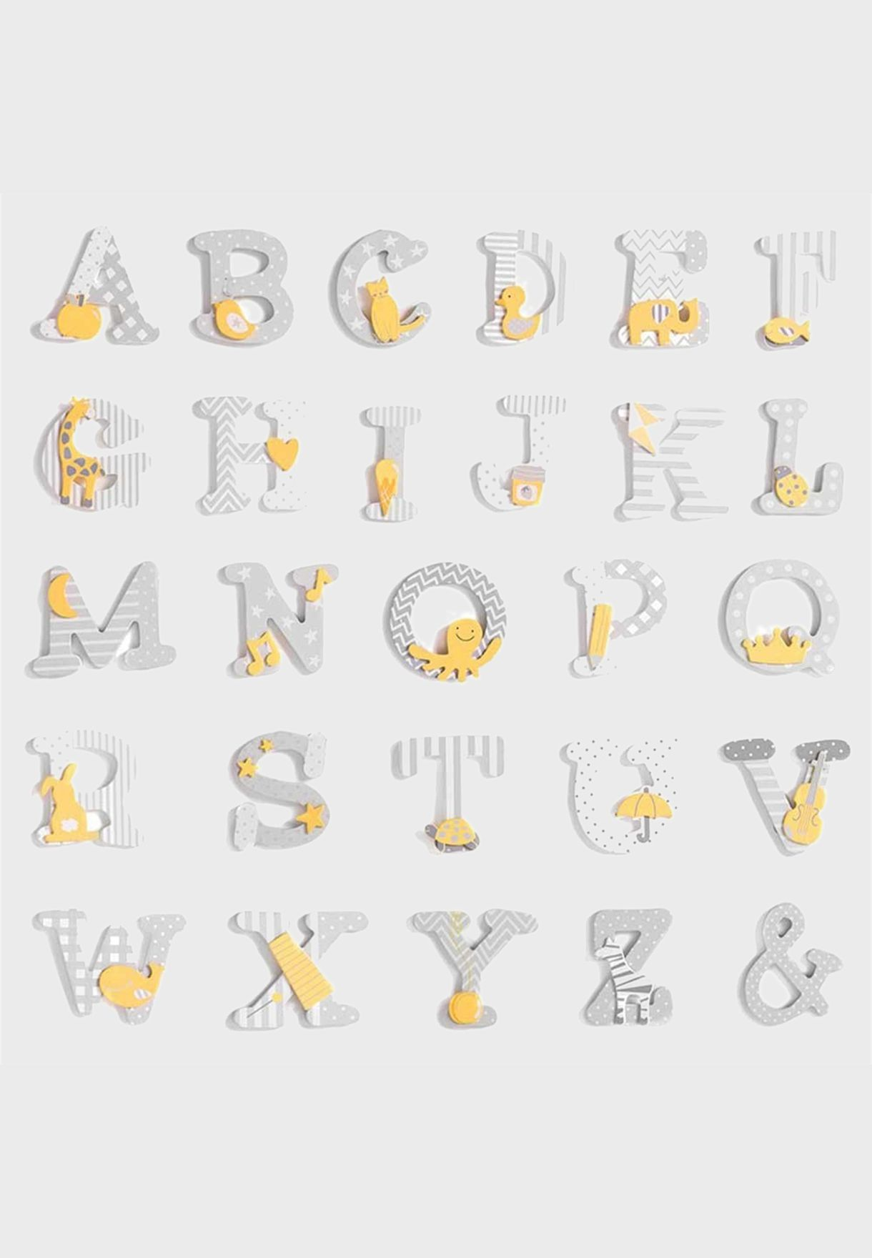 Initial J Wooden Letter