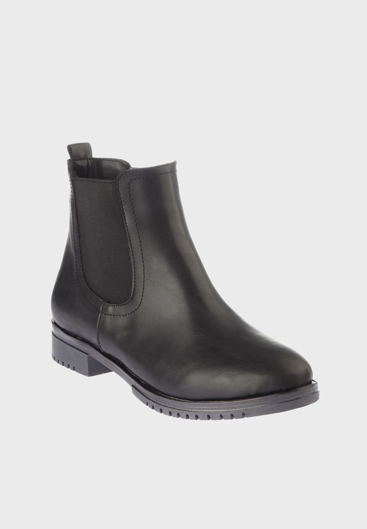 Rubber Detail Ankle Boot