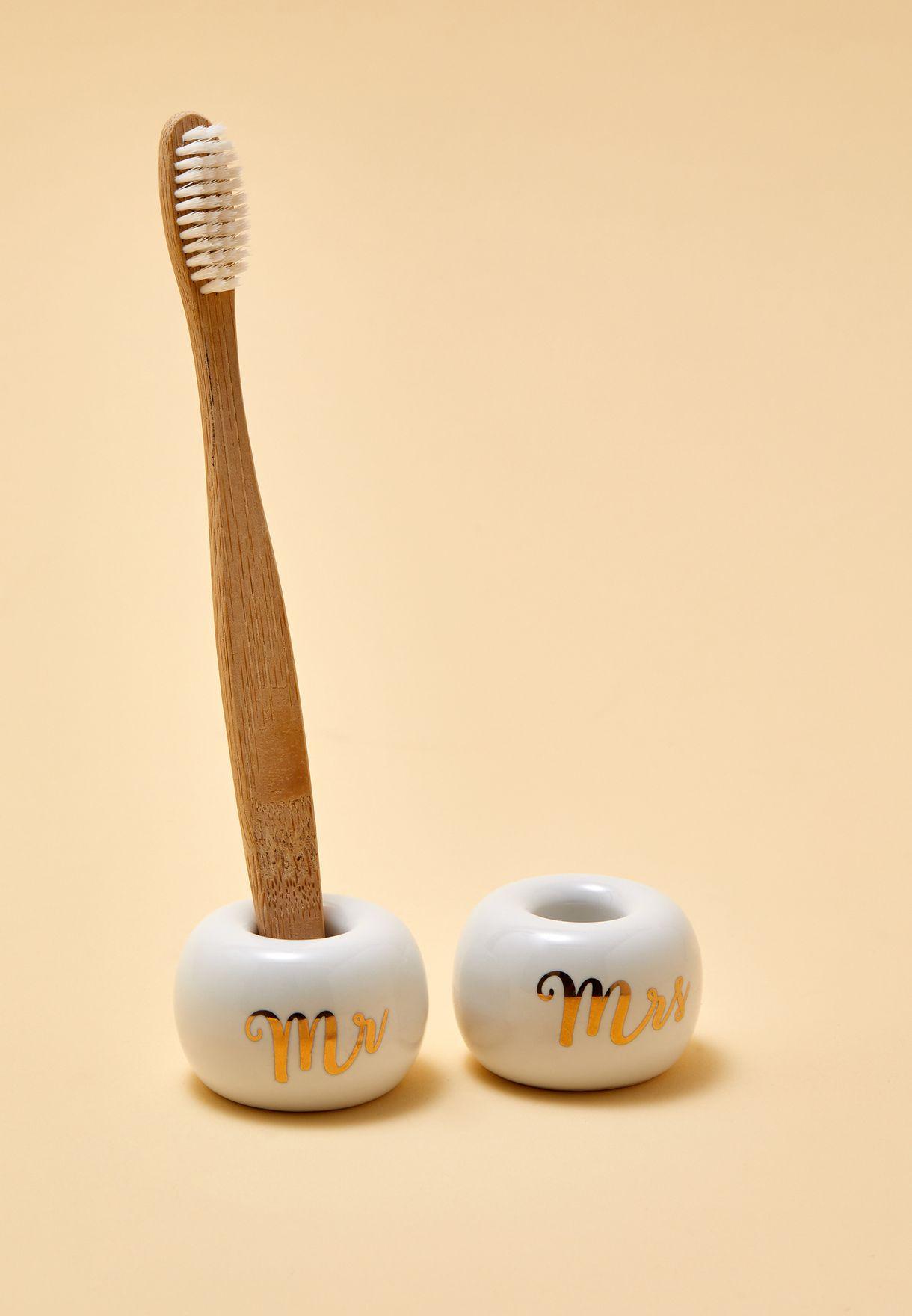 حمالة فرشاة اسنان عدد 2