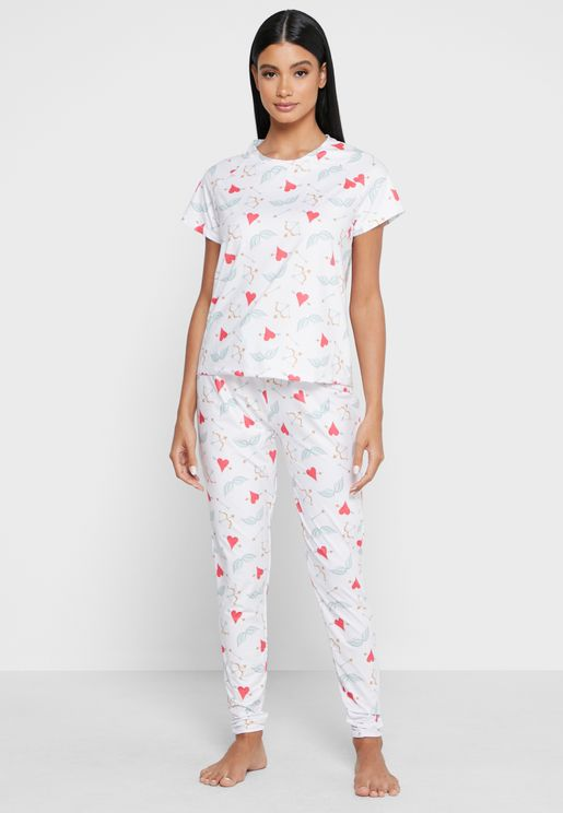 Hearts and Arrows T-Shirt & Legging Set