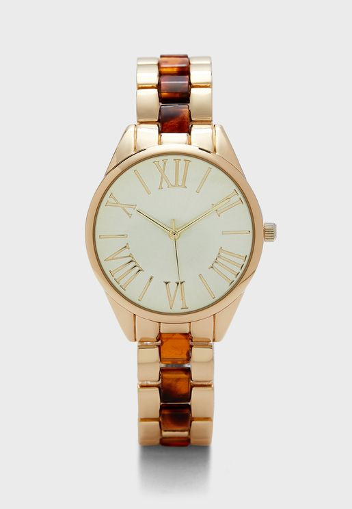 Two Tone Bracelet Watch
