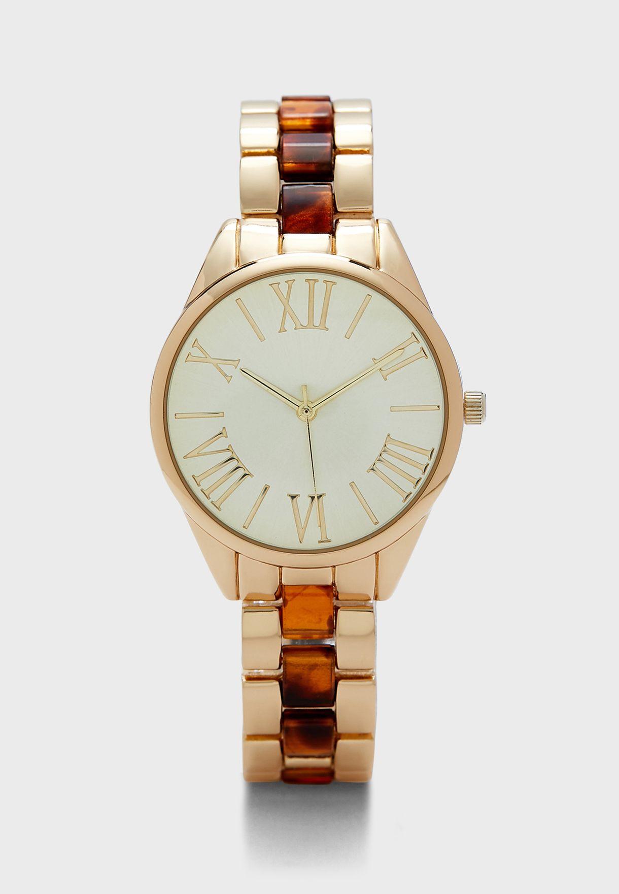 Two Tone Bracelet Watch