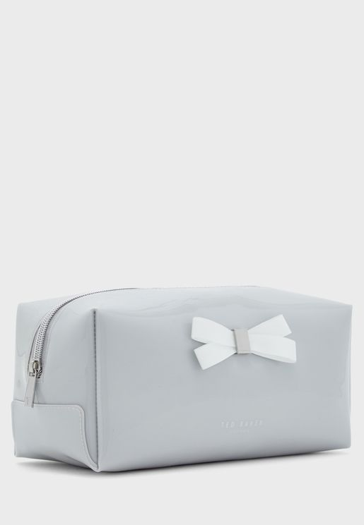 Bow Detail Cosmetic Bag