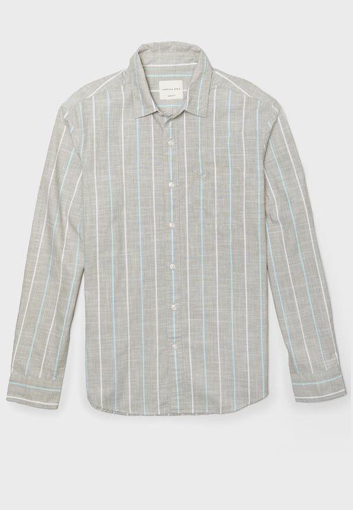 قميص مخطط سليم فيت