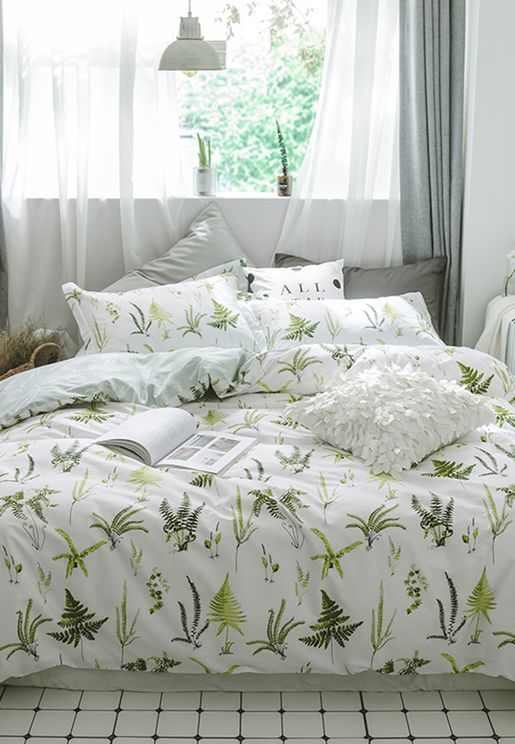 Botanical Print Bedding Set - King