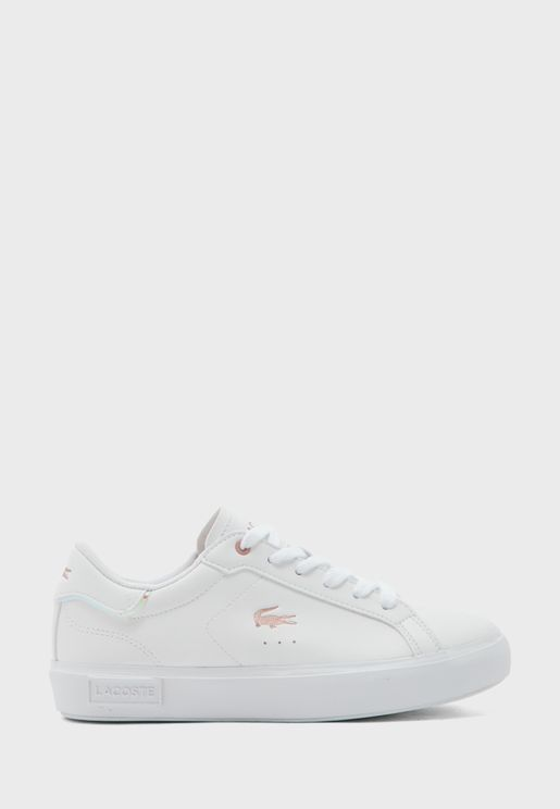 Youth Powercourt  Metallic Accent Sneaker