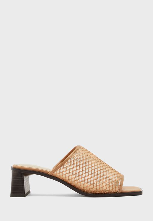 Wide Strap High Heel Sandal