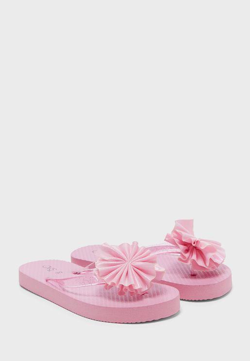 Kids Flower Detail Flip Flop
