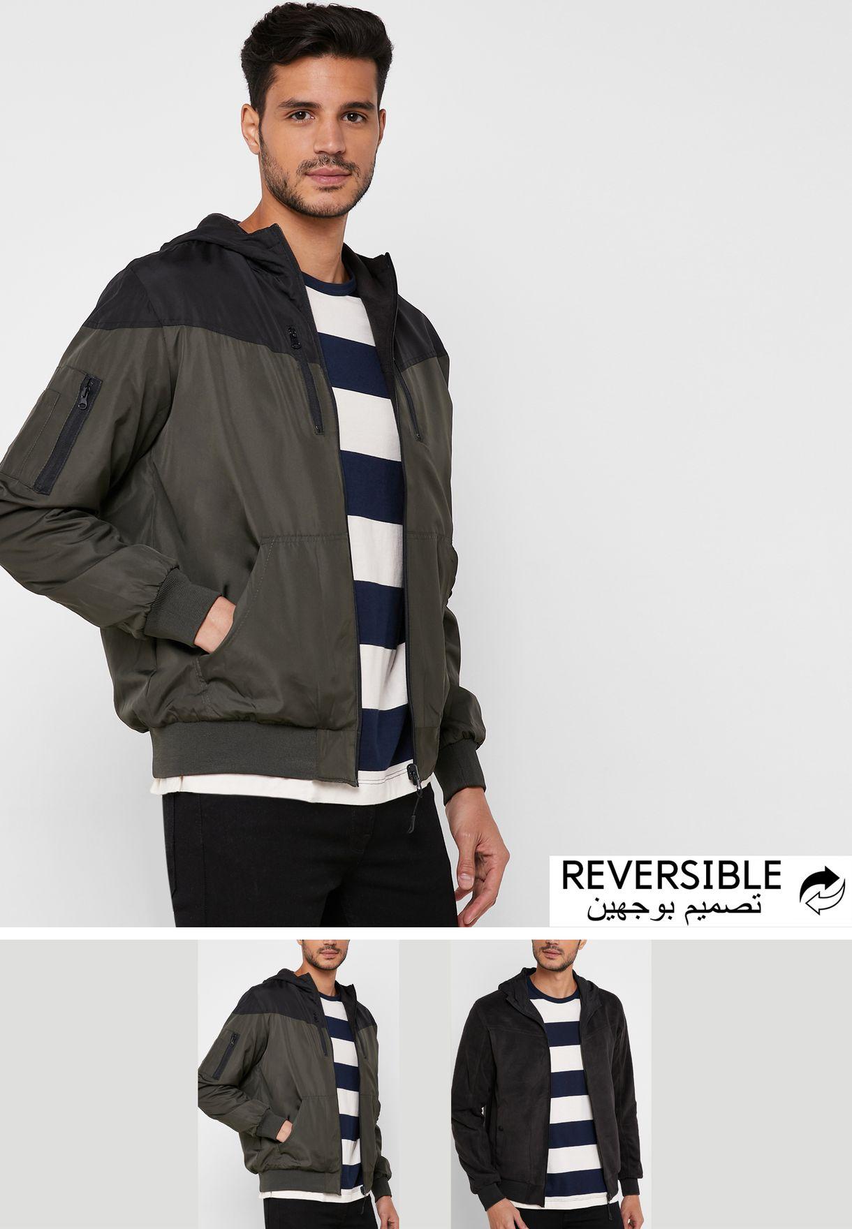 Colourblock Hooded Jacket