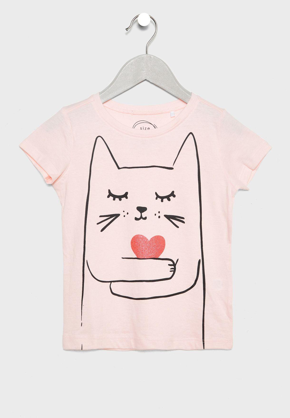 Kids Cat Graphic Pyjama Set