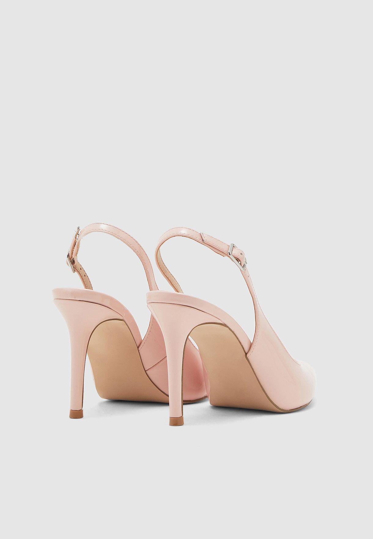 Macey Ankle Strap Pump - Blush